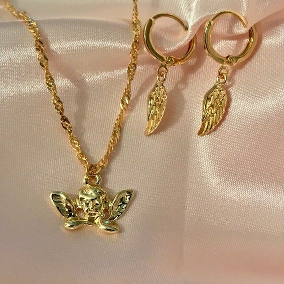 Angel baby necklace set.