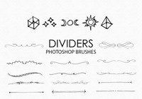 Free Hand Drawn Dividers Photoshop Brushes