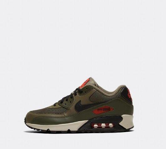 Nike Air Max 90 Essential Trainer   Medium Olive Black