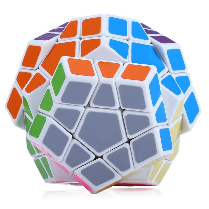 12-sides Shengshou Megaminx Magic Cubes Brain Teaser Pentagon 12 Sides Gigaminx PVC Sticker Dodecahedron Toy Puzzle Twist