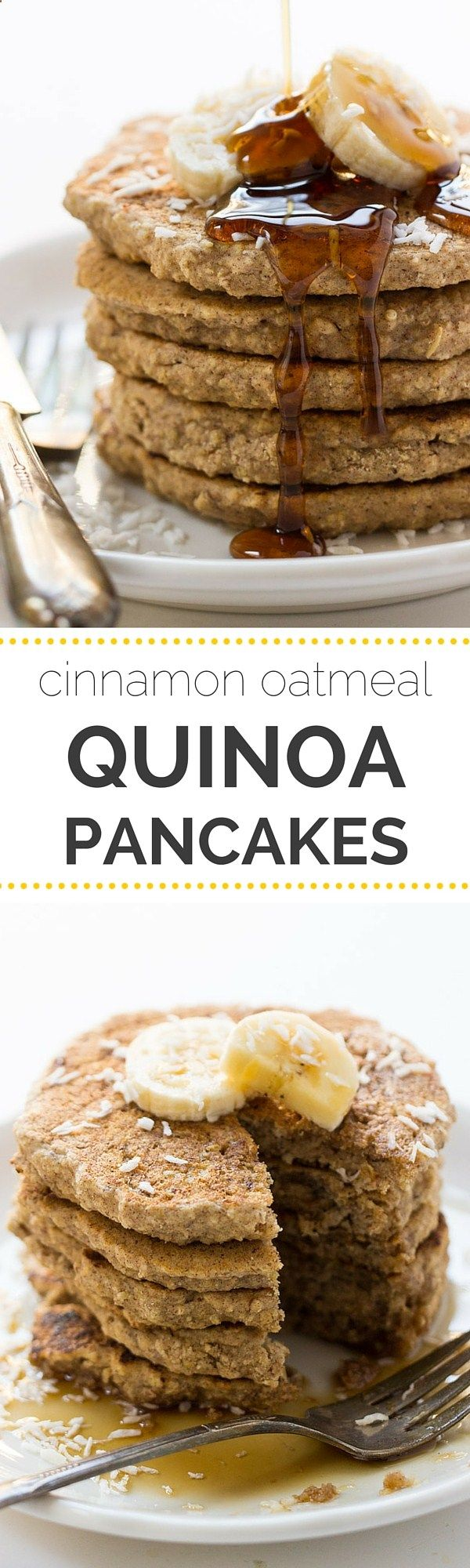 These HEALTHY quinoa pancakes are vegan, gluten-free and refined sugar free | recipe on simplyquinoa.com