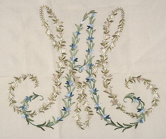 Marie Antoinette's monogram.  I should start using a version of this for fun - since my maiden name initials are MA