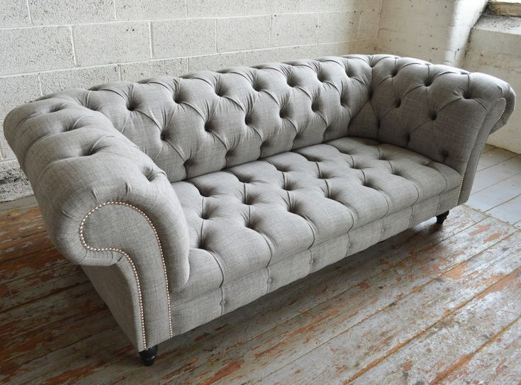 Chesterfield Sofas | Romford Wool Chesterfield Sofa | Homemade Sofa, Chesterfield Sofa Design, Classic Chesterfield Sofa