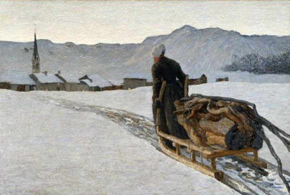 Giovanni Segantini (1858-1899). Return from the Woods, 1890. © Segantini Museum, St Moritz