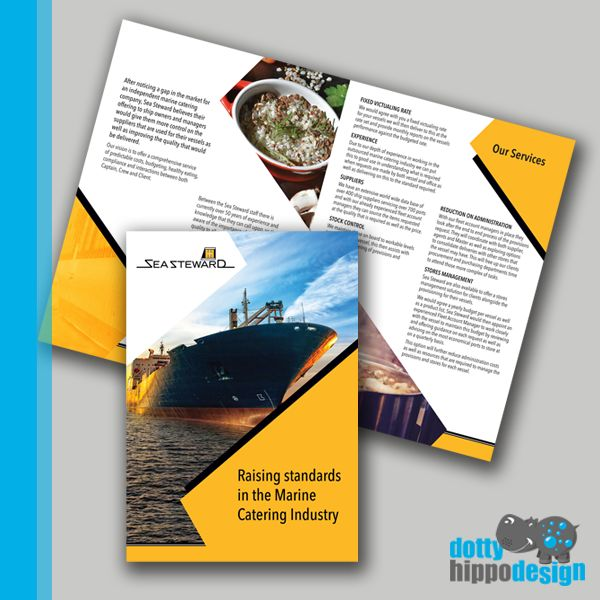 Enjoyed working on this brochure. Yellow and black are strong, vibrant colours. I used sharp angles throughout to tie in with the logo. The client is very happy!