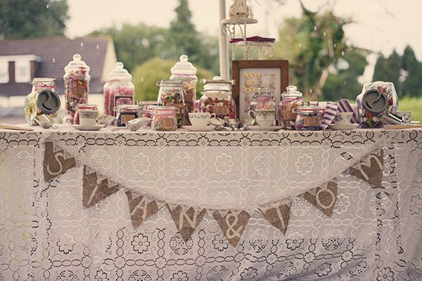 Countryside Festival Chic Wedding Sweets http://www.charliecampeyphotography.co.uk/ Beautiful photography and details at this wedding.