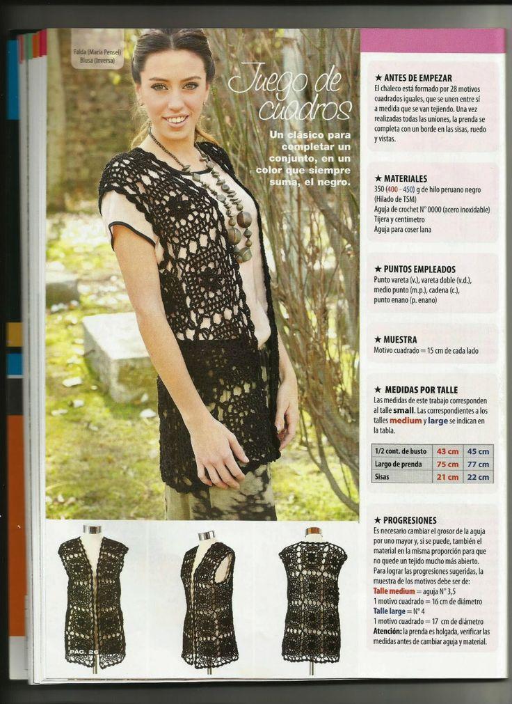 Crochetemoda: Maxi Colete de Crochet