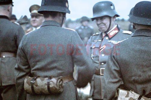 Agfacolor-color-dia-1941-general-espanola-voluntarios-Division-azul-Grafenwohr