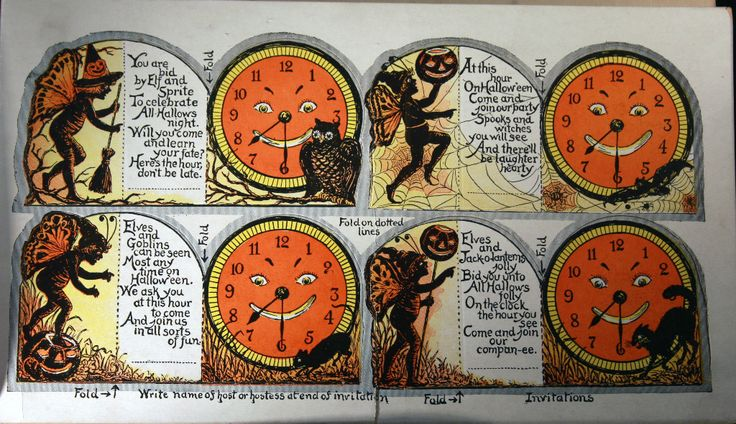 Rare vintage beistle halloween party decorations book for Antique halloween decoration