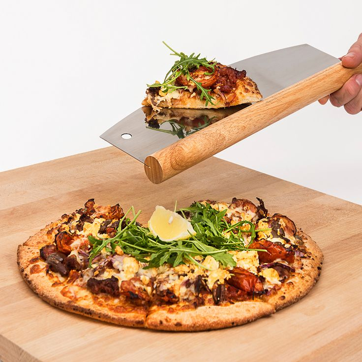 Have fun cutting and serving pizza with the Gozbit Pizza Cutter. It makes serving easy. Must have multipurpose tool for every kitchen. Perfect gift idea for a loved one or a friend.