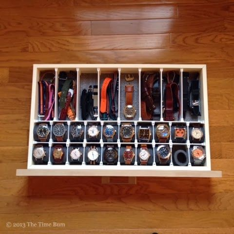 Watch Drawer DIY. See the full illustrated how-to on www.thetimebum.com