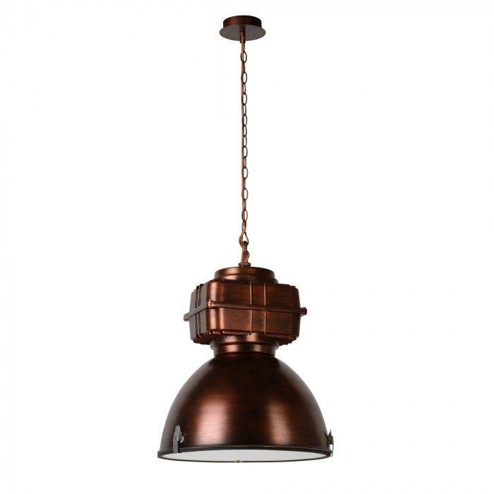 Depoo koperen industriële hanglamp
