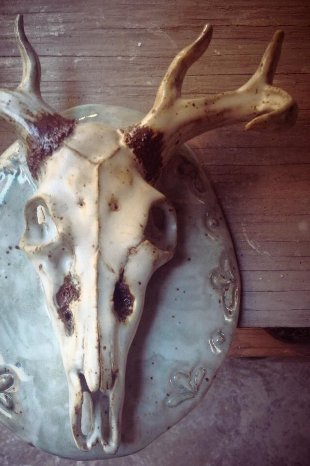 Lovely { Ceramic Deer Skull } By Ashley Young