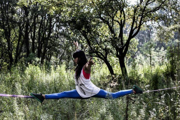 Gabriela Patiño - México Slackliners Slackline Split  nature + meditation + focus
