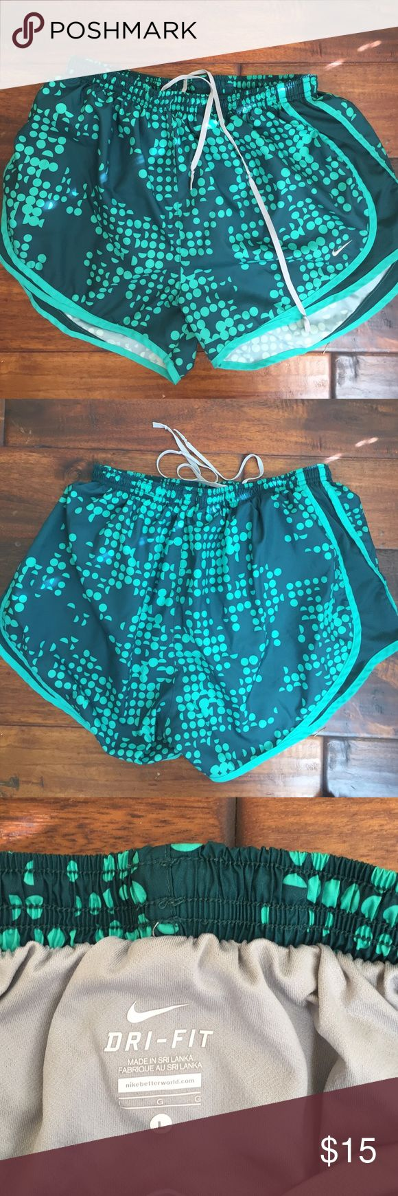 Nike Dri Fit Shorts. Nike Dri Fit Shorts. Great for walking and running . Drawstring and rear inside pocket. Good condition. Not stains, holes, or tears Nike Shorts