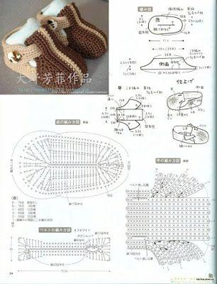 Gráficos de Sapatinhos de Crochê para Recém Nascido - Toda Atual
