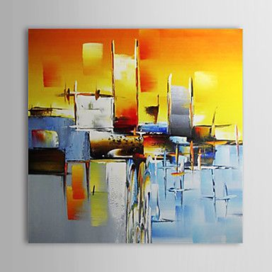 Hand-Painted+Abstract+/+Abstract+Landscape+One+Panel+Canvas+Oil+Painting+For+Home+Decoration+–+USD+$+75.99