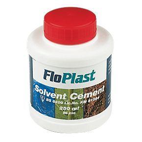 FloPlast SC250 Solvent Cement 250mls.  product code: 14295   £5.59 x3  £16.77.  screwfix.com