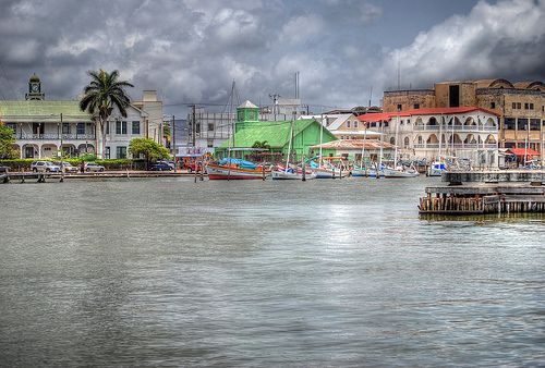 Belize City Harbor, Belize. Spent day here while on Caribbean cruise April 2012.