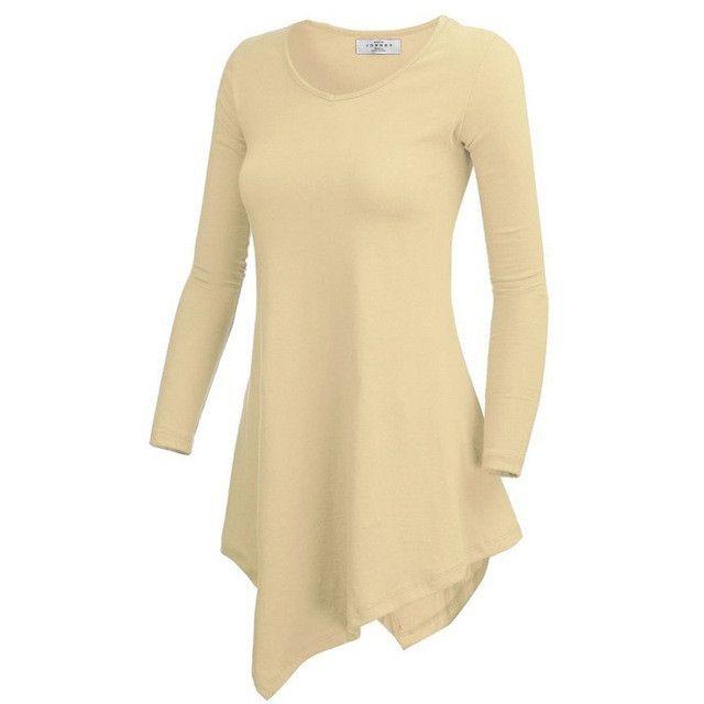 New Women Shirt Hem Long Sleeve Batwing Knit Shirt Tunic Casual T-shirt Top Black Gray,Rose,Blue,Orange