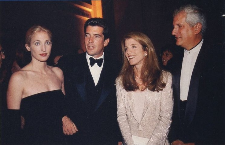 Carolyn Bessette, JFK Jr., Caroline Kennedy, and Ed Schlossberg.