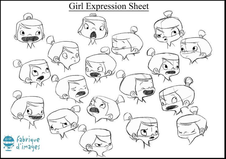 Character Design Emotions : Girl expression sheet h d emotions pinterest lights