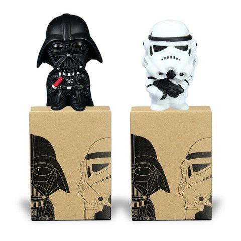 2pcs Star Wars Darth Vader Stormtrooper PVC Model Action Figure Black Worrior Clone Trooper Toy