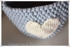 Bilderesultat for strikket hjerte oppskrift