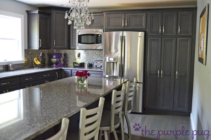 100 best kitchens images on pinterest for Charcoal gray kitchen cabinets