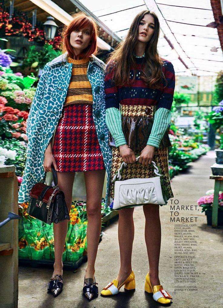 """On the Town"" by Boe Marion for Marie Claire US July 2015- miu miu"