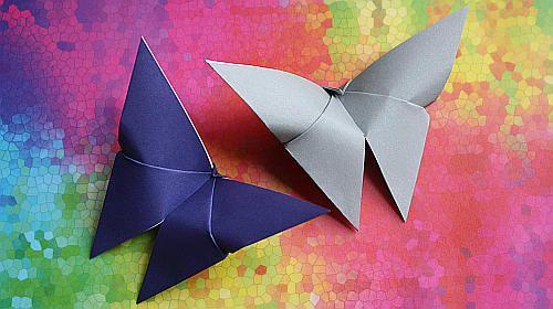 Schmetterlinge falten:  http://www.mittags-pause.de/origami-schmetterling-faltanleitung/
