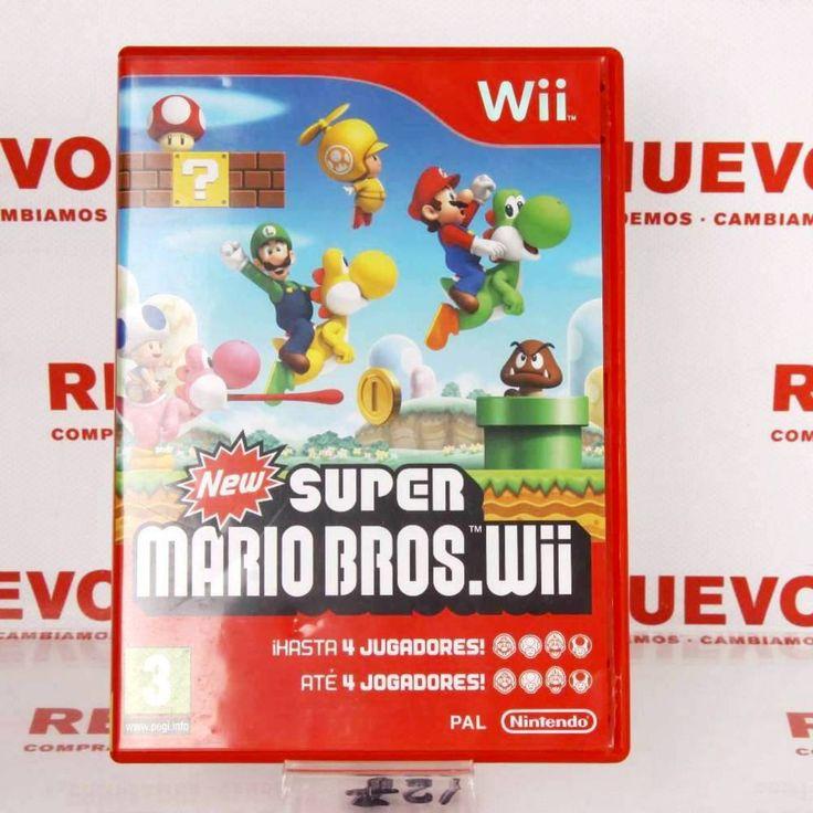 Videojuego SUPER MARIO BROSS para WII de segunda mano E271893 # Juego Wii Mario Bross# de segunda mano#wii