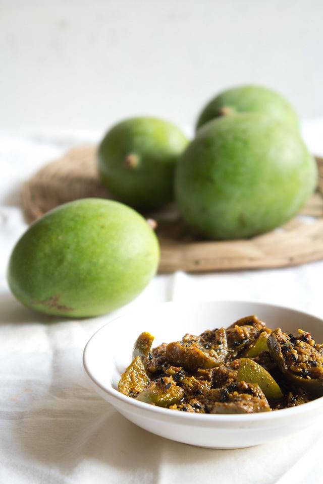 punjabi mango pickle recipe: punjabi mango pickle, punjabi aam ka achaar
