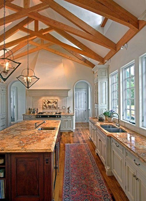 Rustic Kitchen With Big Island Design Ideas And Decor By Kdw Home Kitchen Designworks Richmond Va