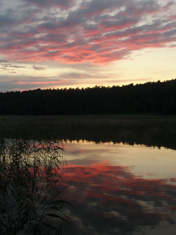 wieczorne niebo na Mazurach