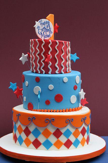 American Birthday Boy birthday cake
