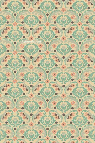 Elegant green victorian pattern