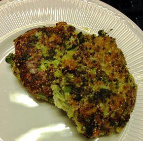 Quinoa-broccoliburgers met kaas