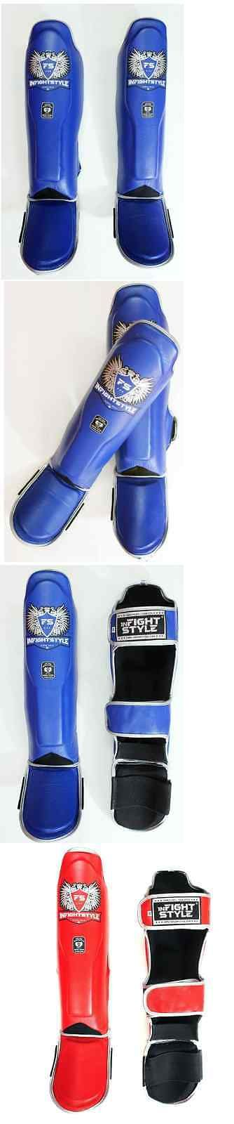 Shin Guards 179782: New Infightstyle Muay Thai Shin Guards Shin Kicking Pads Blue And Red Usa Stock -> BUY IT NOW ONLY: $95 on eBay!