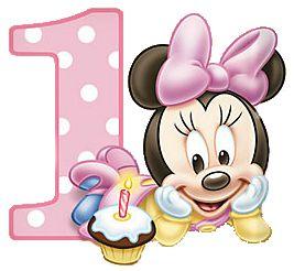 Imprimibles e imágenes de Minnie primer año 13.
