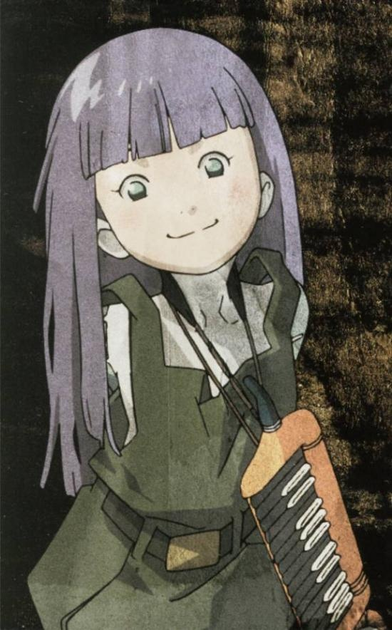 Pino is the oddest character, she really doesnt fit in Ergo Proxy, but shes so cute no one cares. Design  by http://photo-sharpen.com