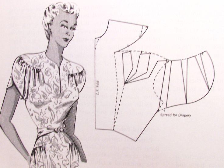 1940s Dress Design Book Draping Flat Pattern Making Methods Hillhouse