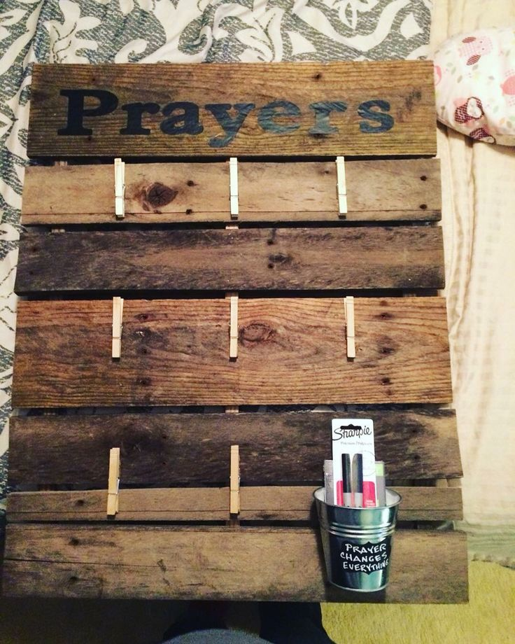 11 best images about prayer board ideas on pinterest for Recycled wood board