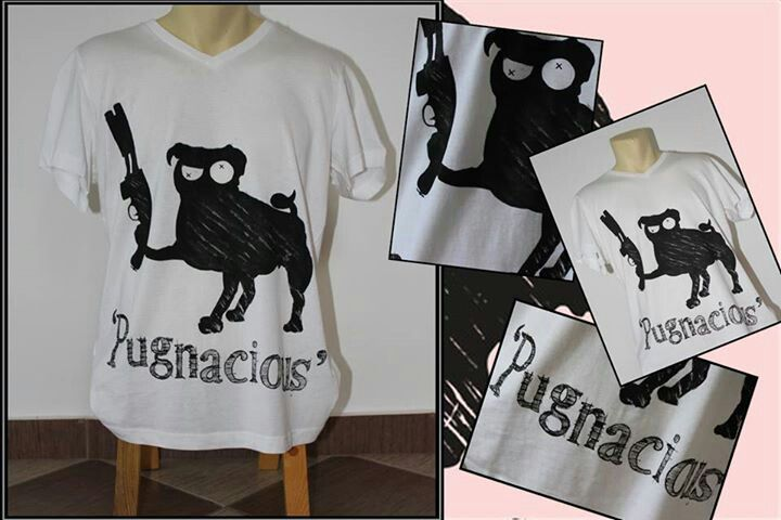 Pugnacious hand painted t-shirt