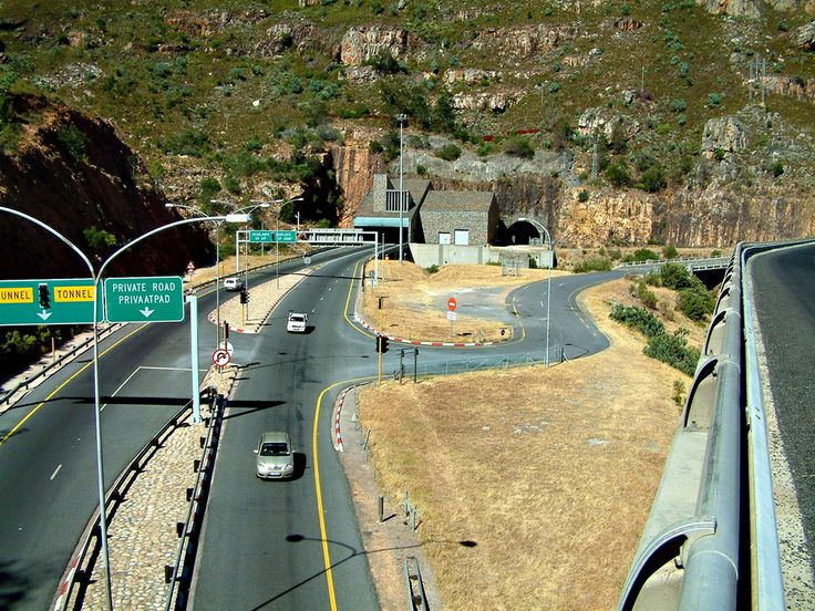 A view of the entrance to the newer Du Toit's Kloof tunnel on the eastern side near Paarl, South Africa.