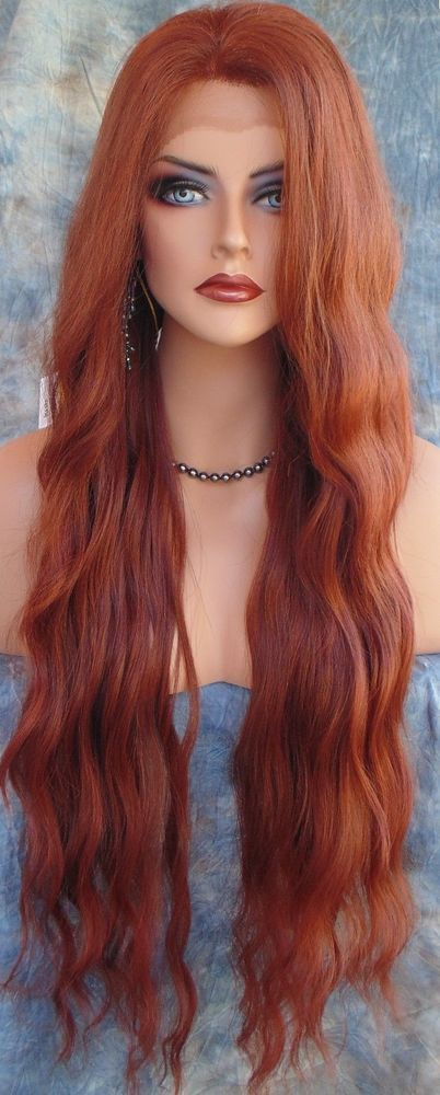 LACE FRONT WIG WAVY LONG WAVY COLOR GORGEOUS RED T33.130 NEW/TAGS USA SELLER 190 #Unbranded