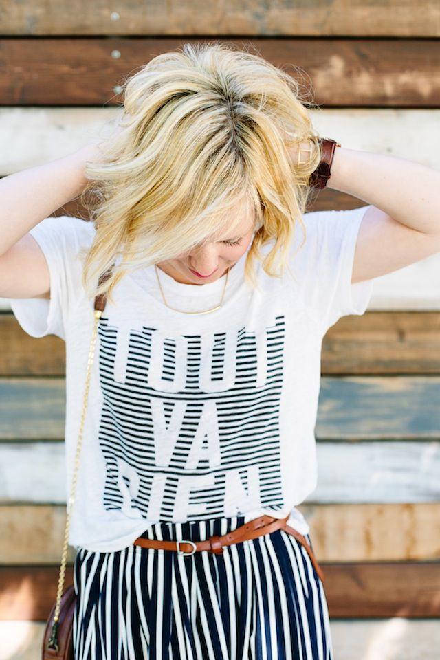 The Striped Midi Skirt