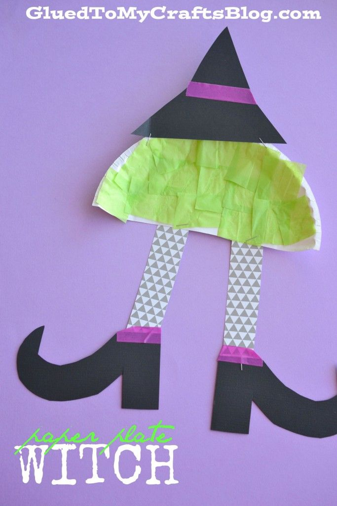 Paper Plate Witch - Kid Craft & 163 best Paper Plate Crafts images on Pinterest | Paper plates ...