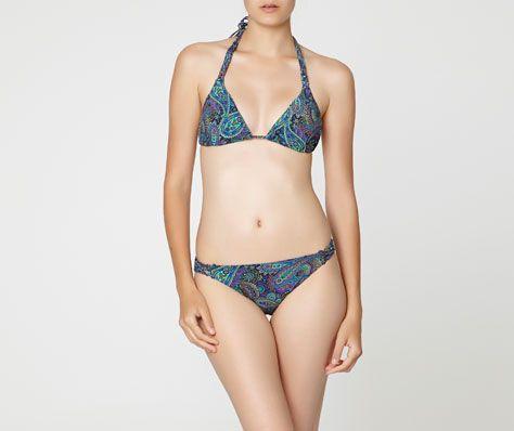 Paisley print triangle bikini top - OYSHO