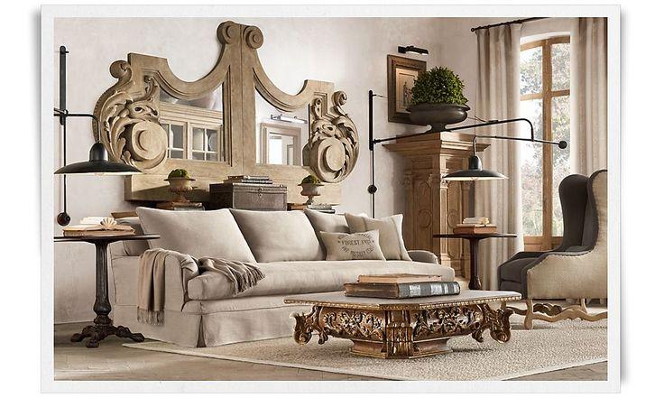 44 best restoration hardware look book images on for Classic furniture restoration